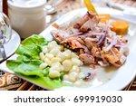 peru  south america   ceviche... | Shutterstock . vector #699919030