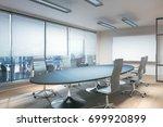 light meeting room with... | Shutterstock . vector #699920899