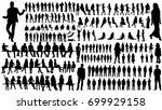 isolated  a collection of... | Shutterstock .eps vector #699929158