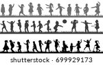 vector  isolated  a collection... | Shutterstock .eps vector #699929173