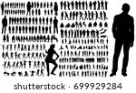 collection of silhouettes of... | Shutterstock .eps vector #699929284