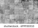 slate tile ceramic  seamless... | Shutterstock .eps vector #699930310