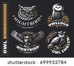 Owl Logo Set  Vector...
