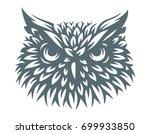 owl head   vector illustration. ... | Shutterstock .eps vector #699933850
