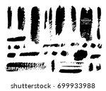 set of grunge banners. grunge... | Shutterstock .eps vector #699933988