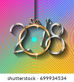 2018 happy new year background... | Shutterstock .eps vector #699934534