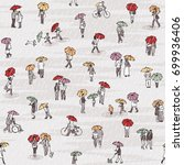 seamless pattern of tiny grey... | Shutterstock .eps vector #699936406