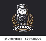 owl education logo   vector... | Shutterstock .eps vector #699938008