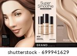 foundation cosmetic ads  three... | Shutterstock .eps vector #699941629