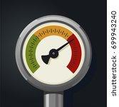 retro manometer. realistic... | Shutterstock .eps vector #699943240