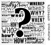 question mark   questions whose ... | Shutterstock .eps vector #699945376