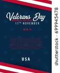 veterans day. honoring all who... | Shutterstock .eps vector #699945478