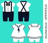 romper suit. children's tuxedo. ...   Shutterstock .eps vector #699945514