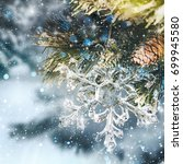 winter christmas background | Shutterstock . vector #699945580