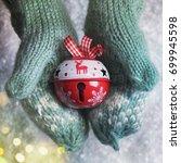 winter snow background  kids... | Shutterstock . vector #699945598