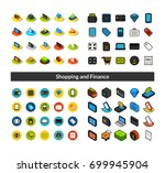 set of icons in different style ... | Shutterstock .eps vector #699945904