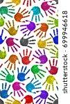 seamless hands background... | Shutterstock . vector #699946618