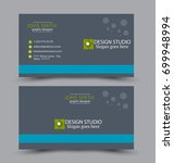 business card set template for... | Shutterstock .eps vector #699948994