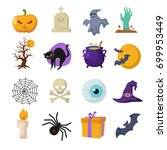 halloween cartoon vector cute... | Shutterstock .eps vector #699953449