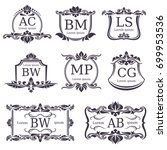 luxury logo monograms with... | Shutterstock .eps vector #699953536