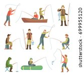 Fisherman Flat Icons. Fishing...