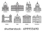 european monuments and... | Shutterstock .eps vector #699955690