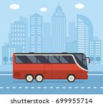 public transport illustration... | Shutterstock .eps vector #699955714