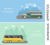 travel by bus illustrations... | Shutterstock .eps vector #699955723