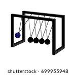newton's cradle   illustration... | Shutterstock .eps vector #699955948