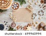 homemade christmas cookies ... | Shutterstock . vector #699960994