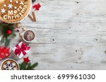 christmas cookies with gift box ... | Shutterstock . vector #699961030