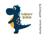 cute dinosaur vector... | Shutterstock .eps vector #699962278