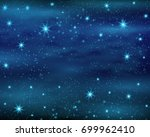 cosmic space dark sky... | Shutterstock .eps vector #699962410