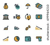vector flat economic icons set... | Shutterstock .eps vector #699964210