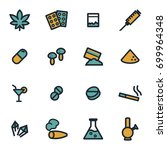 vector flat drugs icons set on... | Shutterstock .eps vector #699964348