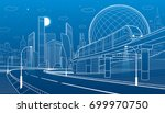 city infrastructure and... | Shutterstock .eps vector #699970750