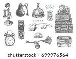 hotel services. vintage art... | Shutterstock .eps vector #699976564