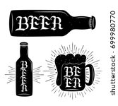 beer hand written lettering on...