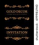 vintage gold vignettes ... | Shutterstock .eps vector #699981940
