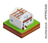 isometric concept of building a ...