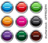 audio digital equalizer...   Shutterstock .eps vector #699982894
