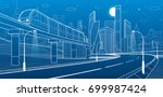 city infrastructure and... | Shutterstock .eps vector #699987424