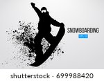 silhouette of a snowboarder... | Shutterstock .eps vector #699988420