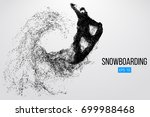 silhouette of a snowboarder... | Shutterstock .eps vector #699988468