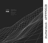 digital landscape. abstract... | Shutterstock .eps vector #699990028
