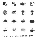 food and kitchen icon set | Shutterstock .eps vector #699991270