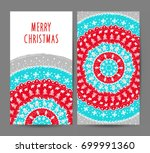 christmas and new year greeting ... | Shutterstock .eps vector #699991360
