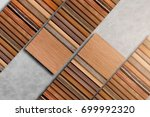 Small photo of wood laminate veneer sample texture background