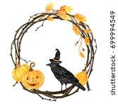 watercolor helloween.  perfect... | Shutterstock . vector #699994549