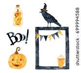 watercolor helloween.  perfect... | Shutterstock . vector #699994588